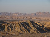 Millions of years ago, the park was underneath an ocean, leaving sediments behind. They help from the badlands.